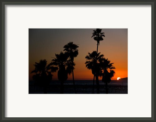 Sunset In Califiornia Framed Print By Ralf Kaiser