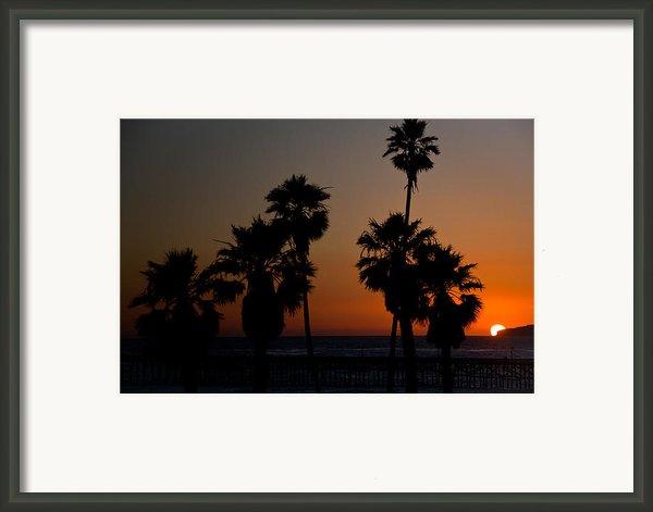 Sunset In Califiornia Framed Print By Ralf Kaiser