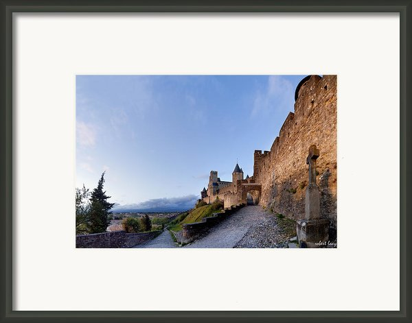 Sunset In Carcassonne Framed Print By Robert Lacy