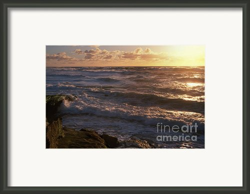Sunset In Lajolla Framed Print By Sandra Bronstein