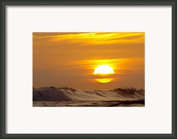 Sunset In San Clemente Framed Print By Quincy Dein - Printscapes