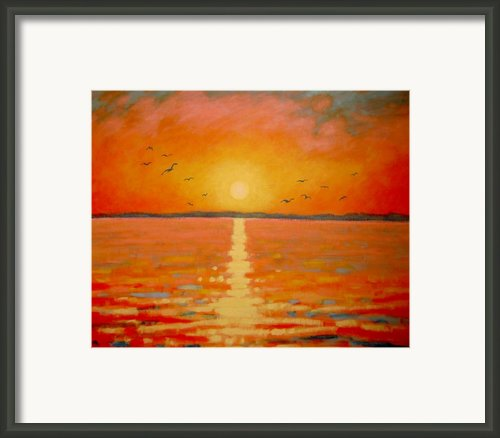 Sunset Framed Print By John  Nolan