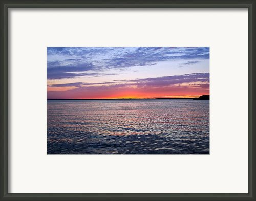 Sunset On Barnegat Bay I - Jersey Shore Framed Print By Angie Mckenzie