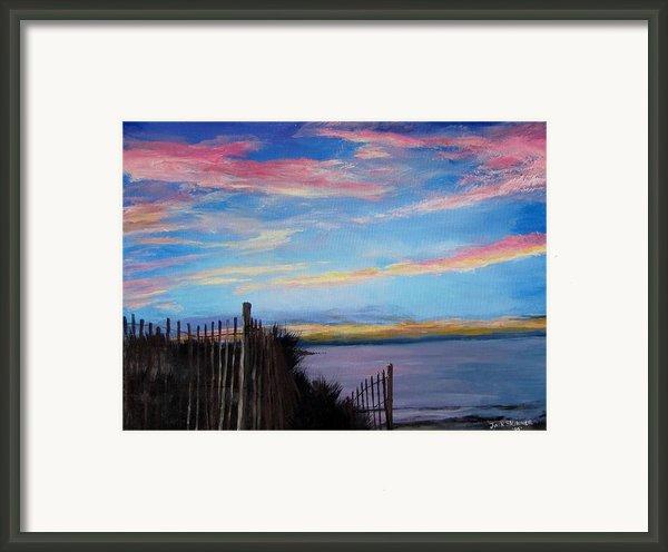 Sunset On Cape Cod Bay Framed Print By Jack Skinner