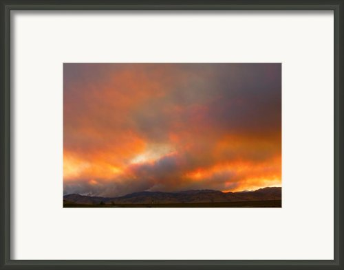 Sunset On Fire Framed Print By James Bo Insogna