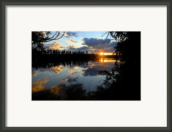 Sunset On Polly Lake Framed Print By Larry Ricker
