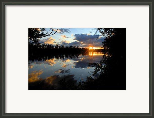 Sunset On Polly Lake Framed Print By Larry Ricker