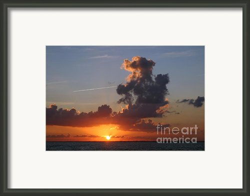 Sunset Over Biscayne Bay Framed Print By Matt Tilghman