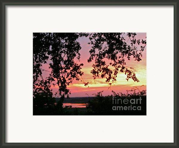 Sunset Over Canyon Lake Framed Print By Randi Shenkman