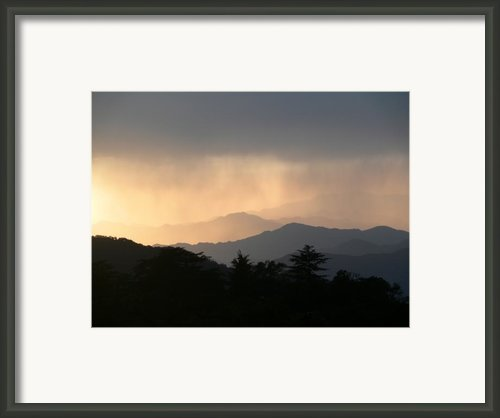 Sunset Over Chakrata Hills - 2 Framed Print By Padamvir Singh