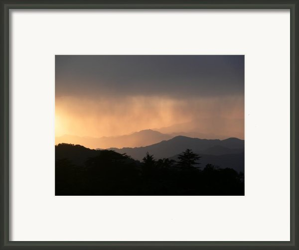 Sunset Over Chakrata Hills Framed Print By Padamvir Singh
