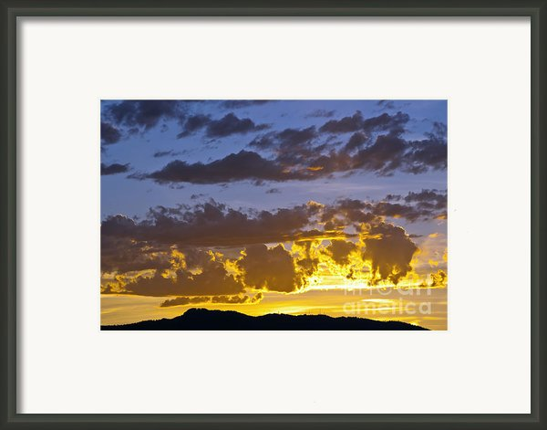 Sunset Over Horsetooth Rock Framed Print By Harry Strharsky