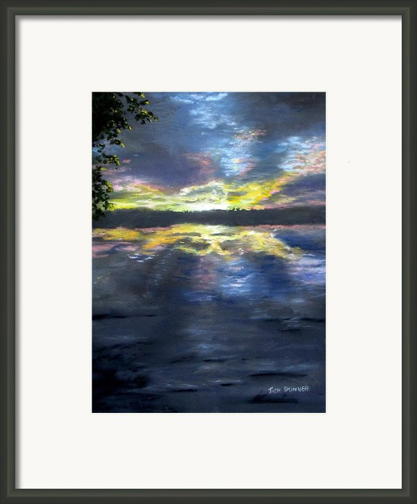 Sunset Over Mystic Lakes Framed Print By Jack Skinner