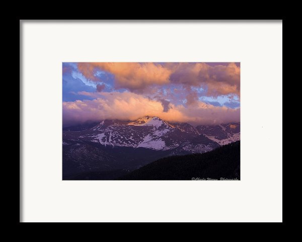 Sunset Over The Rockies Framed Print By Charles Warren