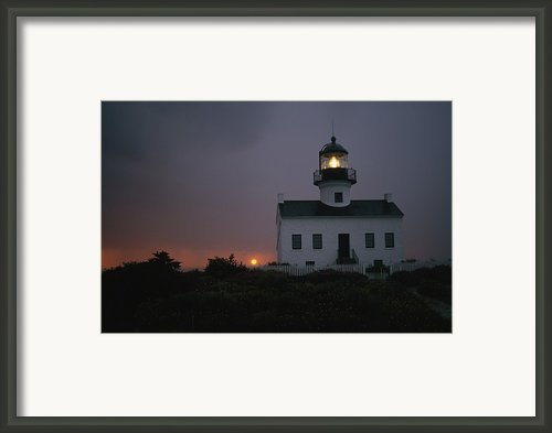 Sunset Picture Of The Old Point Loma Framed Print By Phil Schermeister
