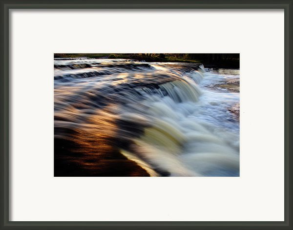 Sunset Reflection On Waterfall Framed Print By Romeo Koitmae