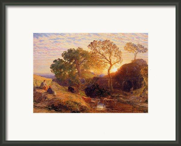 Sunset Framed Print By Samuel Palmer