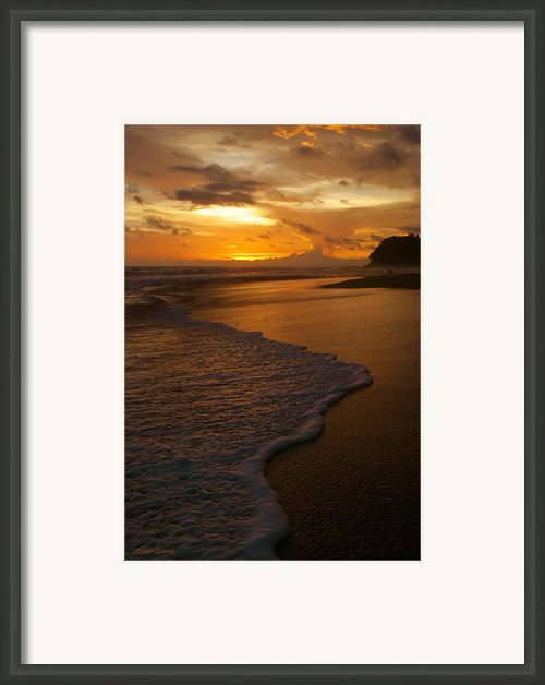 Sunset Surf Playa Hermosa Costa Rica Framed Print By Michelle Wiarda