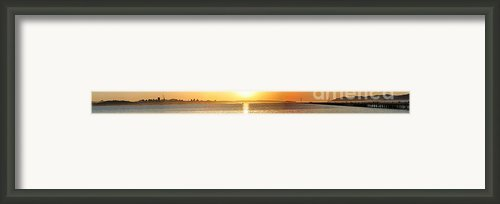 Sunset Viewed From The Berkeley Shoreline Looking Across From The Bay Bridge To The Marin Headlands Framed Print By Wingsdomain Art And Photography