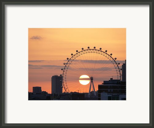 Sunset Viewed Through The London Eye Framed Print By Photograph By Lars Plougmann