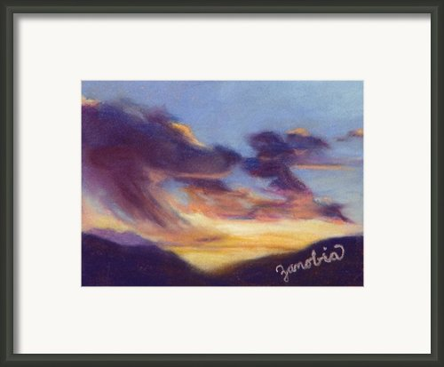 Sunset West Of Town Framed Print By Zanobia Shalks