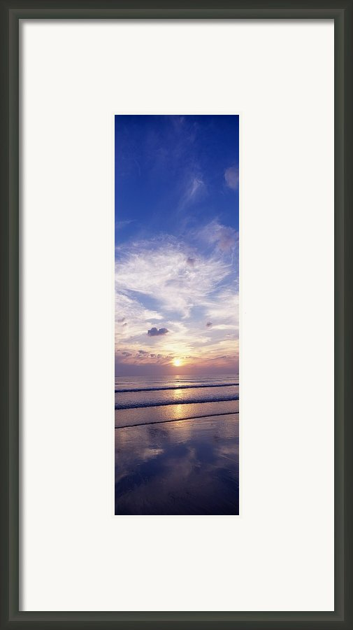 Sunsets Over The Beach, Magheraroarty Framed Print By The Irish Image Collection