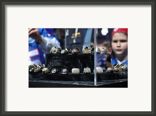 Super Bowl Rings  Framed Print By Brittany H