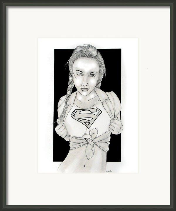 Supergirl Framed Print By Nathan  Miller