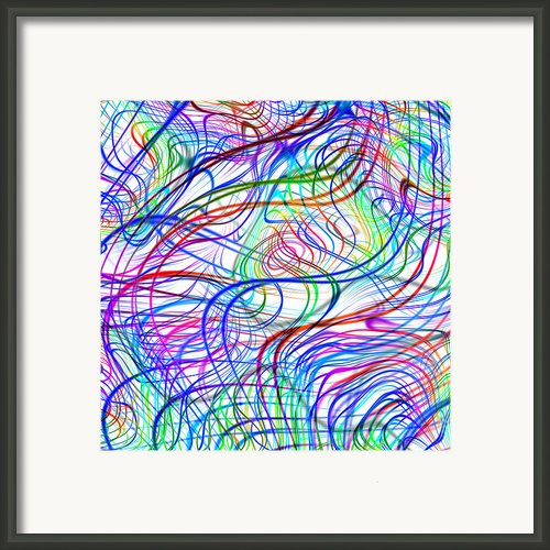 Superstrings, Conceptual Artwork Framed Print By Mehau Kulyk