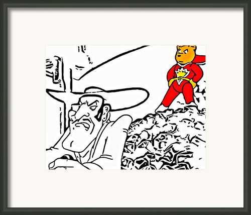 Superted And Texas Pete Framed Print By Rich Chegwidden