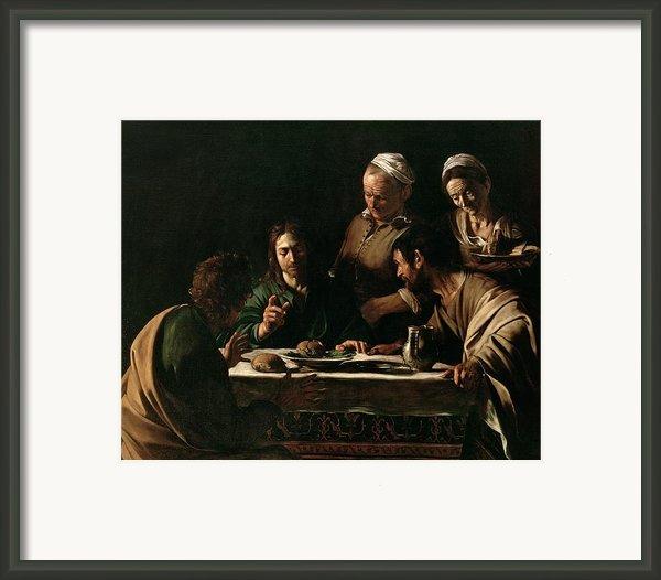 Supper At Emmaus Framed Print By Michelangelo Merisi Da Caravaggio
