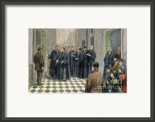 Supreme Court, 1881 Framed Print By Granger