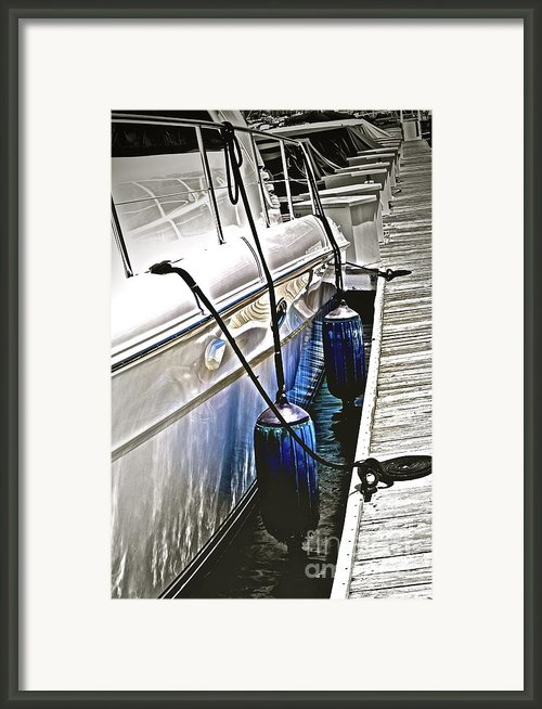 Sure-thing Boat Framed Print By Gwyn Newcombe