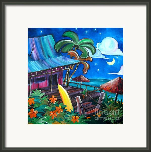 Surf Shack Framed Print By Jerri Grindle