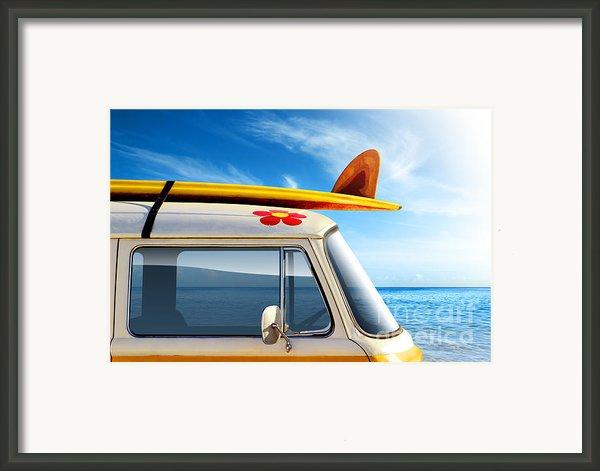 Surf Van Framed Print By Carlos Caetano