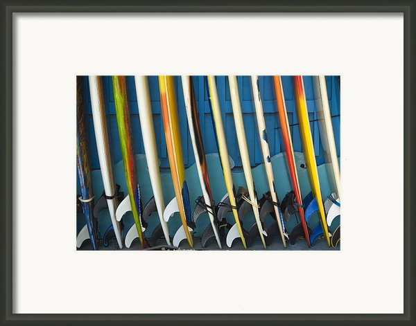 Surfboards Framed Print By Dana Edmunds - Printscapes