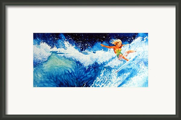Surfer Girl Framed Print By Hanne Lore Koehler