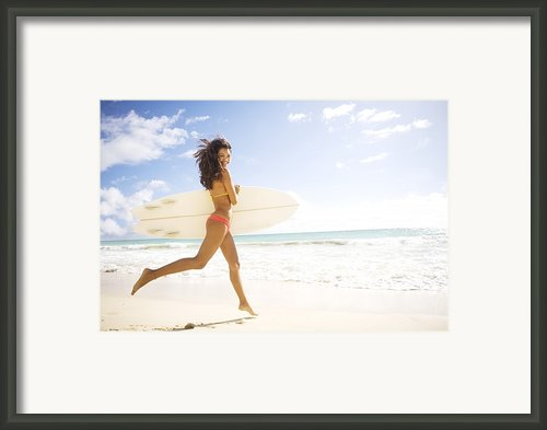 Surfer Girl Framed Print By Sri Maiava Rusden - Printscapes