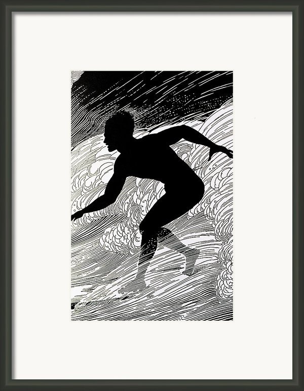 Surfer Framed Print By Hawaiian Legacy Archive - Printscapes