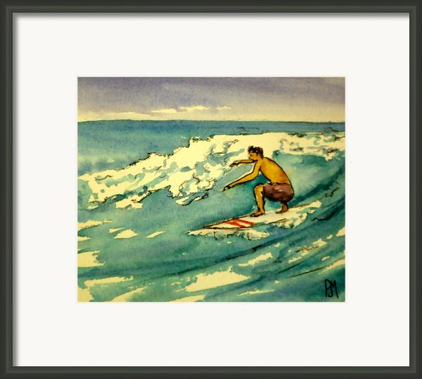 Surfer In The Sky Framed Print By Pete Maier