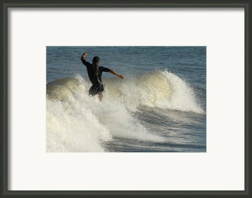 Surfing 75 Framed Print By Joyce Stjames