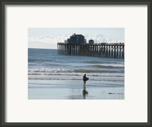 Surfing In San Clemente Framed Print By John Loyd Rushing