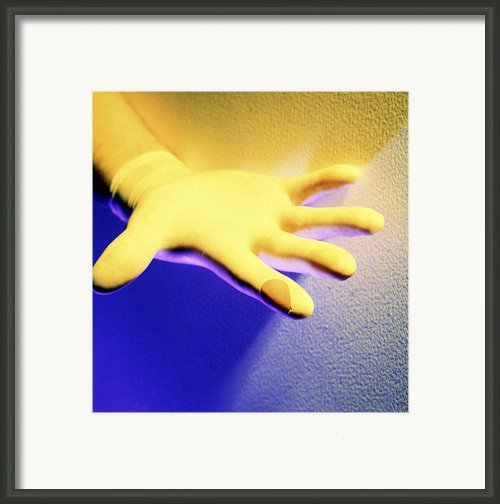 Surgical Glove Framed Print By Johnny Greig