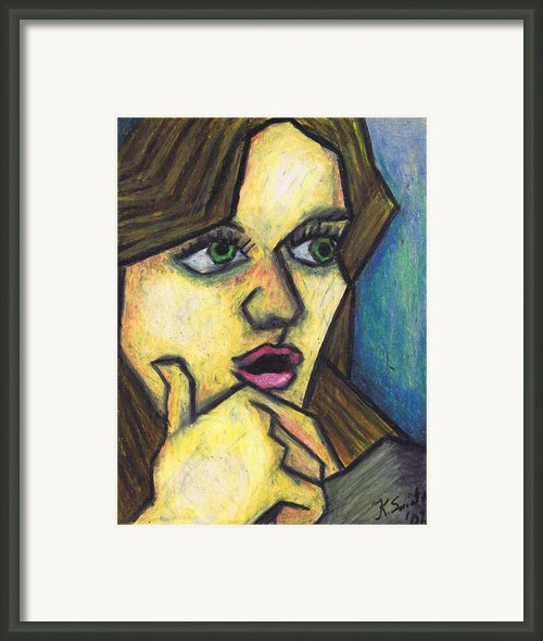 Surprised Girl Framed Print By Kamil Swiatek