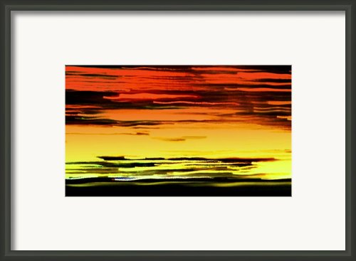 Surreally Sunsety Framed Print By Louie Rochon