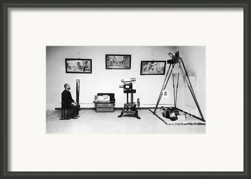 Surveillance Equipment, 19th Century Framed Print By Science Source