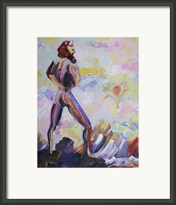 Surveying Creation Framed Print By Suzanne  Marie Leclair