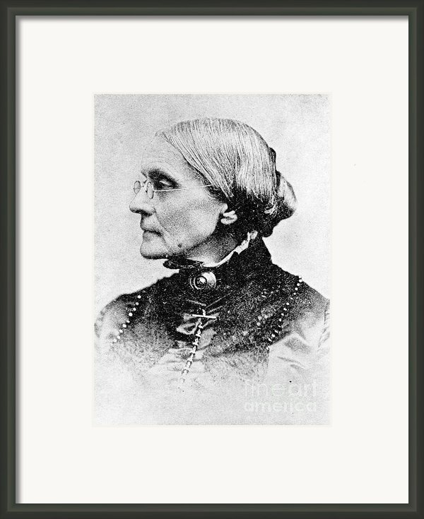 Susan B. Anthony, American Civil Rights Framed Print By Photo Researchers, Inc.