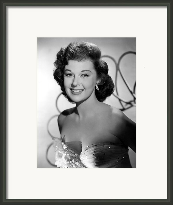 Susan Hayward In The 1950s Framed Print By Everett