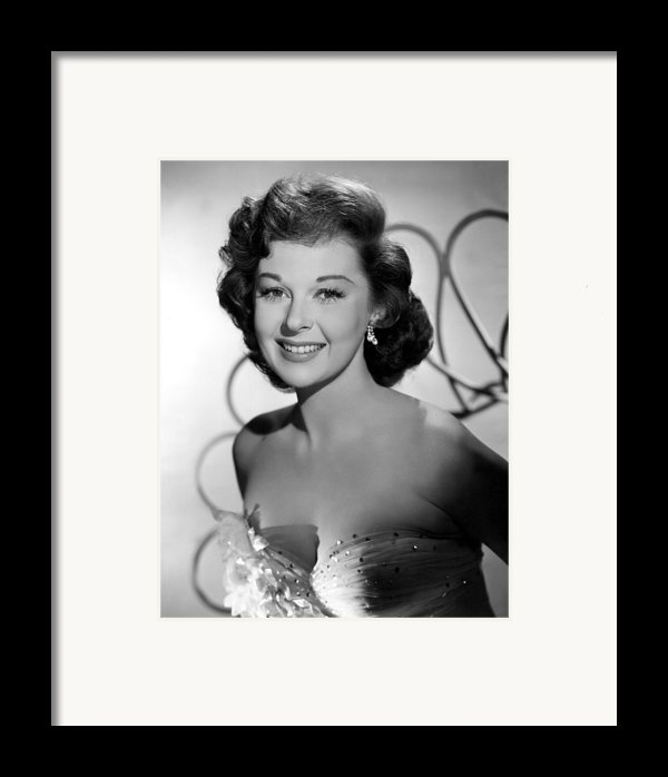 Susan Hayward In The 1950s Framed Print By Everett